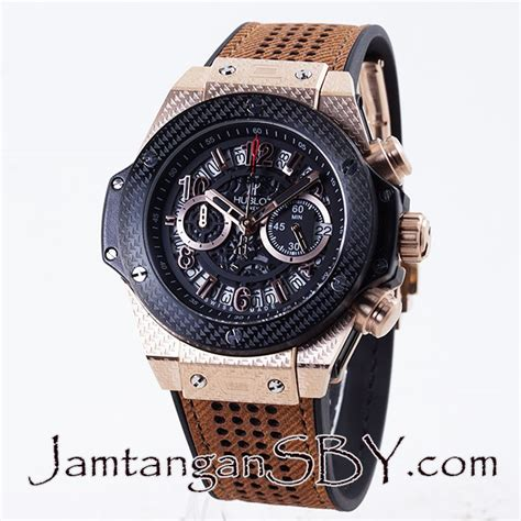Harga Jam Tangan Merk Hublot Geneve jual hublot big vendome triangle dot black gold