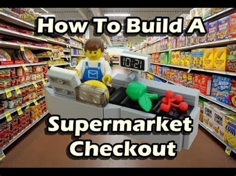 how to build a shop how to build a lego supermarket checkout
