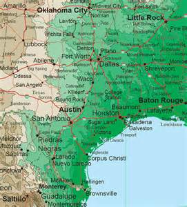 Texas Louisiana Map by South Central States Topo Map