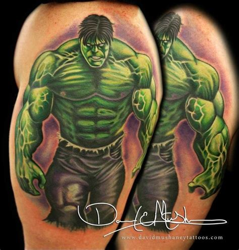hulk tattoo designs the by david mushaney tattoos