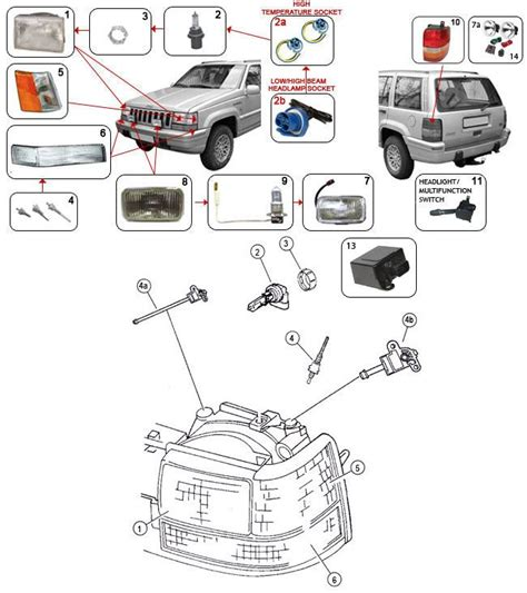 Jeep Xj Parts And Accessories 21 Best 93 98 Grand Zj Parts Diagrams Images On