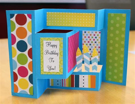 how to make a birthday card for a dash of scraps how to make a birthday pop up card