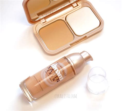 Maybelline Satin Two Way Cake maybelline satin skin foundation two way cake review swatches corallista