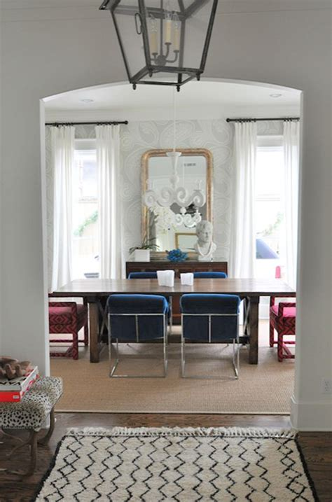 chic eclectic dining room  cole son rajapur