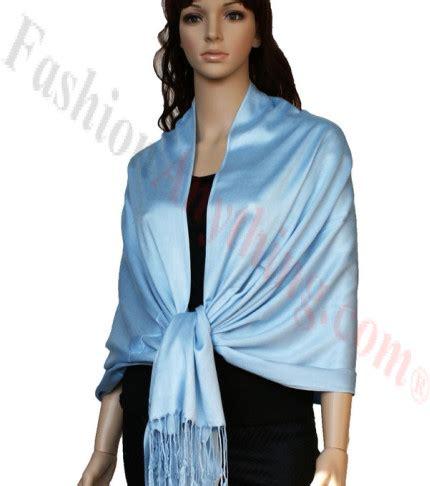 Pashmina Instan Aesha Sky Blue satin pashmina wrap sky blue luxury solid pashmina