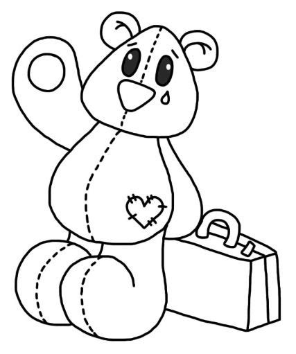 sad bear coloring pages sad teddy thema grootouders pinterest sad