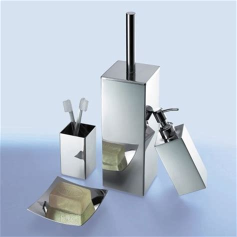 Nemesia Chrome Bathroom Accessory Set Contemporary Contemporary Bathroom Accessory Sets
