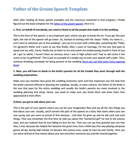 layout for wedding speeches sle graduation speech 8 documents in word pdf