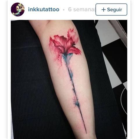 watercolor tattoo helsinki flowertattoo inkspiration tatt