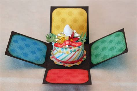 Birthday Cake Papercraft - two riffic tealight birthday cake by kcherrie at