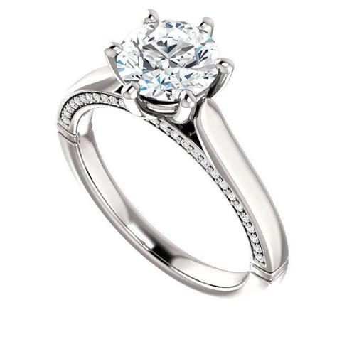 7mm forever one moissanite engagement ring 14k
