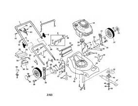 engine housing handle diagram parts list for model 917378381 craftsman parts walk lawn