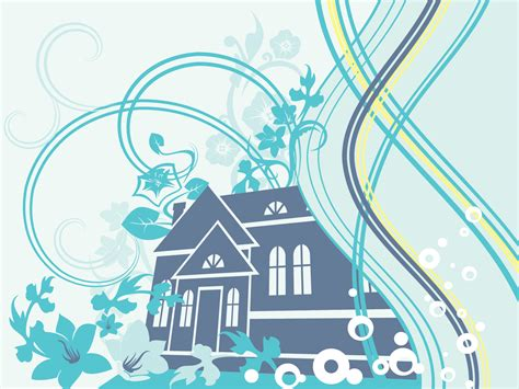house themes for powerpoint home design powerpoint templates aqua cyan blue