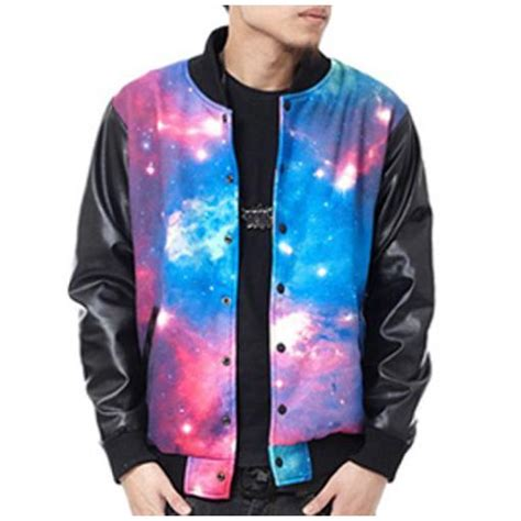 Galaxy Bomber Jacket Printing galaxy baseball jacket jacketin