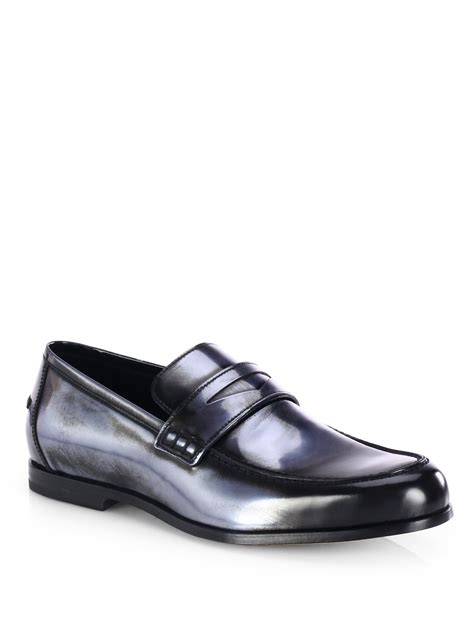 jimmy choo loafers jimmy choo darblay mirror loafers in gray for