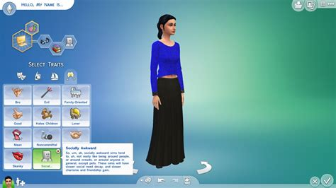 mod the sims robot traits 5 flavors by egm2000 mts socially awkward trait sims 4 psychology traits skills buffs aspirations