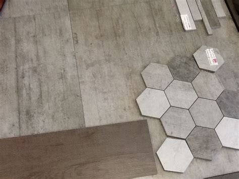 love this honeycomb tile for feature wall in shower and concrete tile for floor bathroom