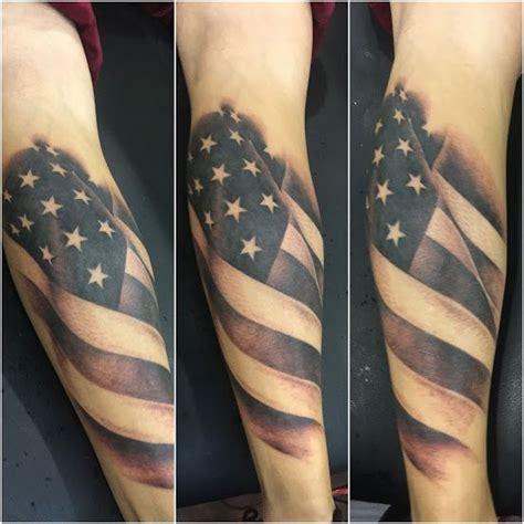 black and gray american flag tattoo black and grey american flag by raymond