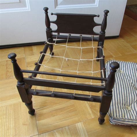 antique rope bed primitive antique miniature doll rope bed circa mid 1800s