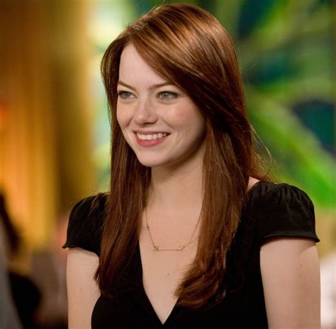 emma stone natural hair emma stone crazy stupid love red brunette long blunt