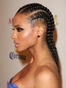 cone rows hair female celebrity cornrows