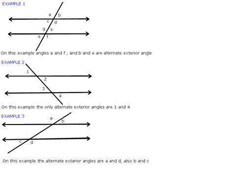Exterior And Interior Angles by Alternate Interior And Exterior Angles Pictures To Pin On Pinsdaddy