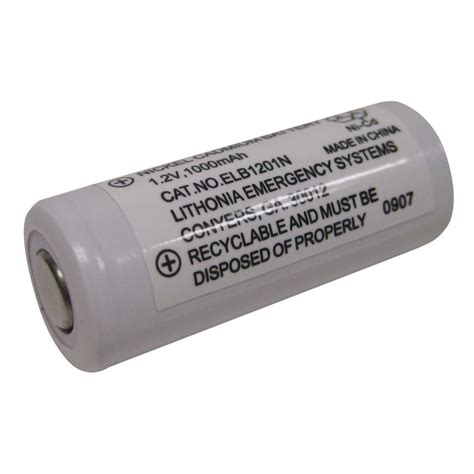 Lu Emergency Quantum lithonia lighting 12 volt emergency replacement battery elb 1201n the home depot
