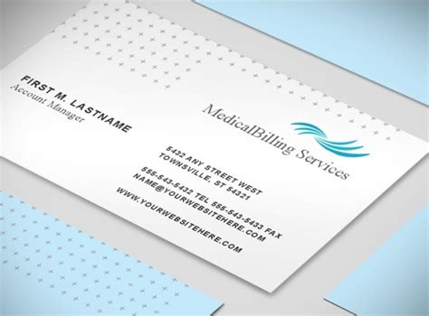 medical billing coding services business card templates