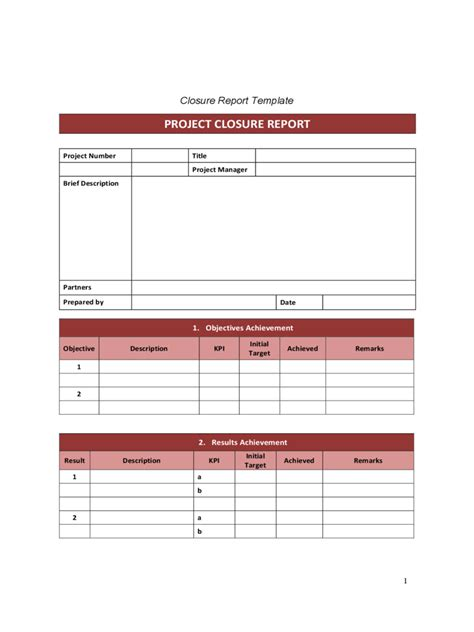 Project Closeout Report Template Pdf Wonderful Out Report Template Gallery Exle
