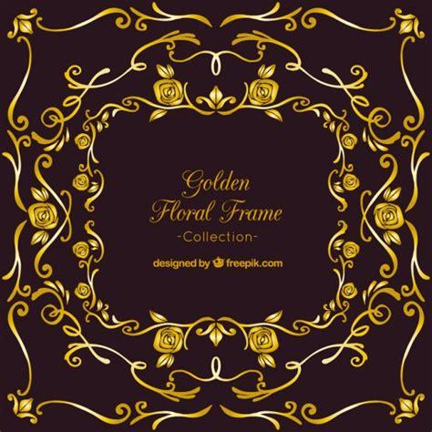 cornici d oro eleganti cornici ornamentali d oro su uno sfondo nero
