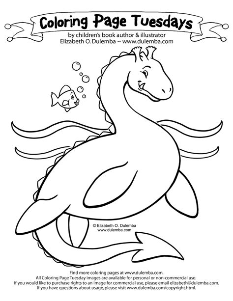 dulemba coloring page tuesday sea serpent