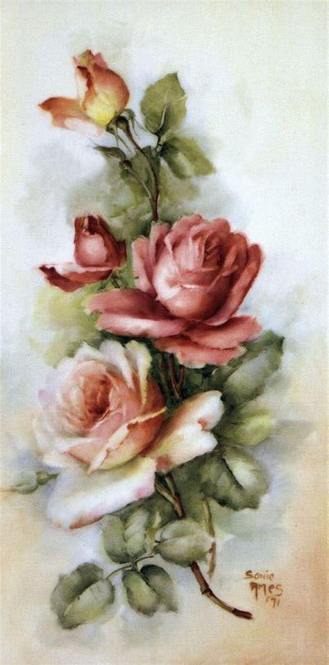 vintage flower paintings www imgkid com the image kid
