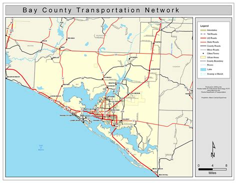 Search Bay County Fl Bay County Road Network Color 2009
