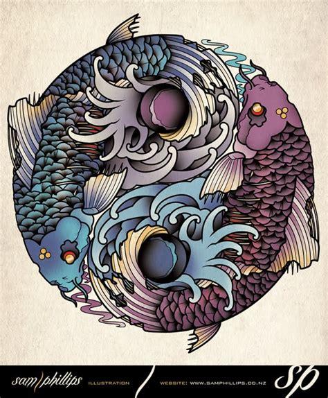 yin yang koi fish tattoo sams koi fish yin yang