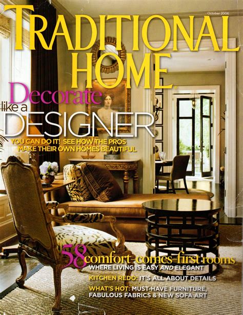 traditional home magazine october 2006 back issue