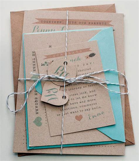 invitaciones para bodas papel kraft tubodamovil invitaciones boda papel kraft impresum