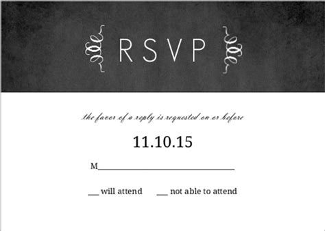 What Date To Put On Rsvp Cards For Wedding