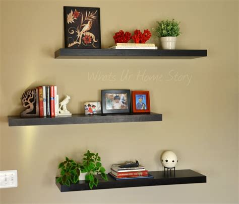 decorating with floating shelves the family room the other half whats ur home story