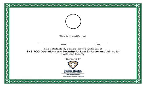blank certificate for training new calendar template site