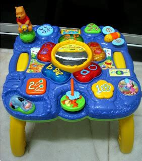 vtech busy play table kiddy parlour sold gallery vtech winnie the pooh play n