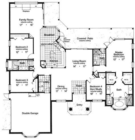 eastwood 4008 4 bedrooms and 3 5 baths the house designers