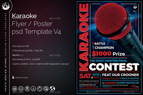 template powerpoint karaoke karaoke flyer template v4 by lou606 graphicriver