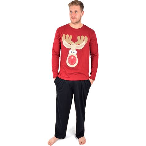 mens novelty christmas xmas pyjama set present pj night