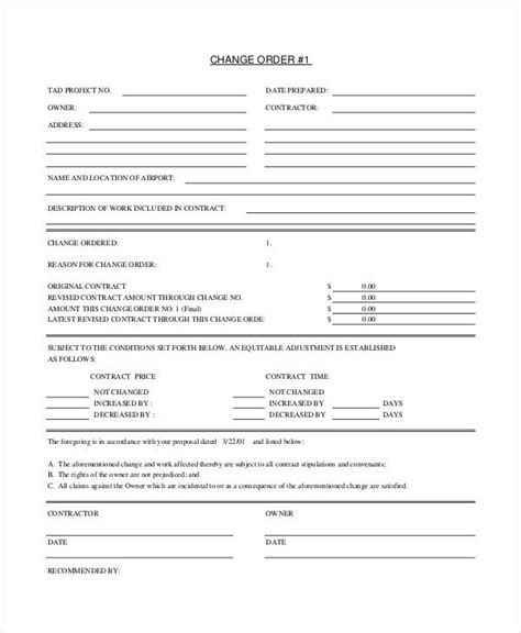 change order template free payroll status change form template gallery template