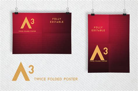 clips poster mockups a3 templates on creative market