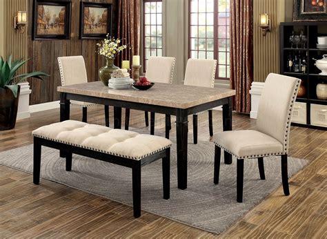 5pc faux marble dining table set dodson i cm3466t 5pc dinette set w faux marble table top