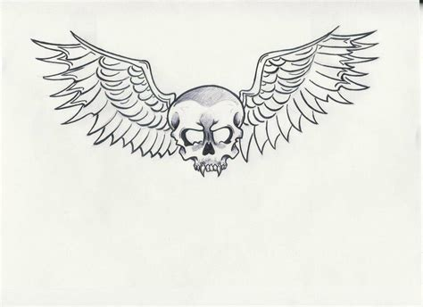 skull with wings tattoo designs skull wings cake ideas and designs