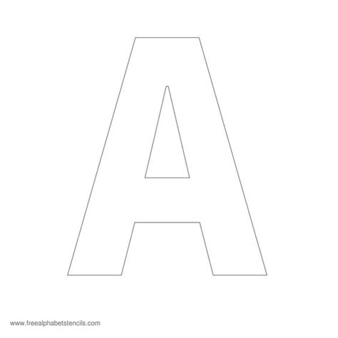 printable 1 inch letter stencils free printable stencil letters 5 inch 1000 ideas about