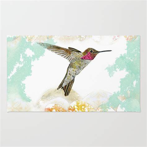 hummingbird rug hummingbird ayre serene rug by lambein society6