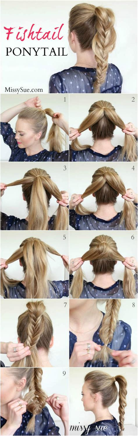 Hair Style Tools Name For Networking diy tutorial fishtail ponytail for hair hair